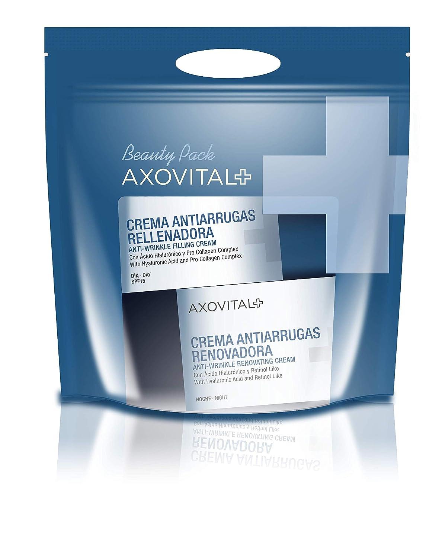 9fff4ef9b Axovital - Pack Antiarrugas Crema de Día + Crema de Noche - 2 x 50 ml:  Amazon.es: Salud y cuidado personal