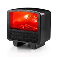 Electric Fireplace Heater with Flame Effect