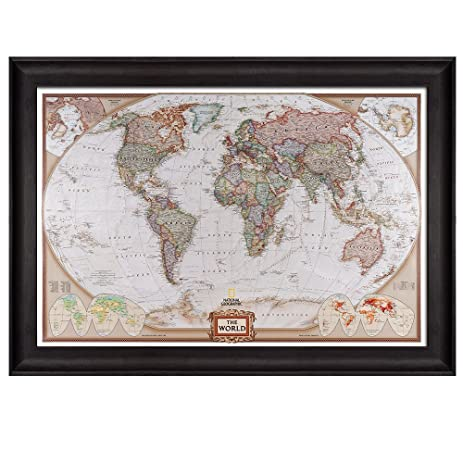 Amazon wall26 colorful national geographic antique world map wall26 colorful national geographic antique world map framed art prints home decor gumiabroncs Gallery