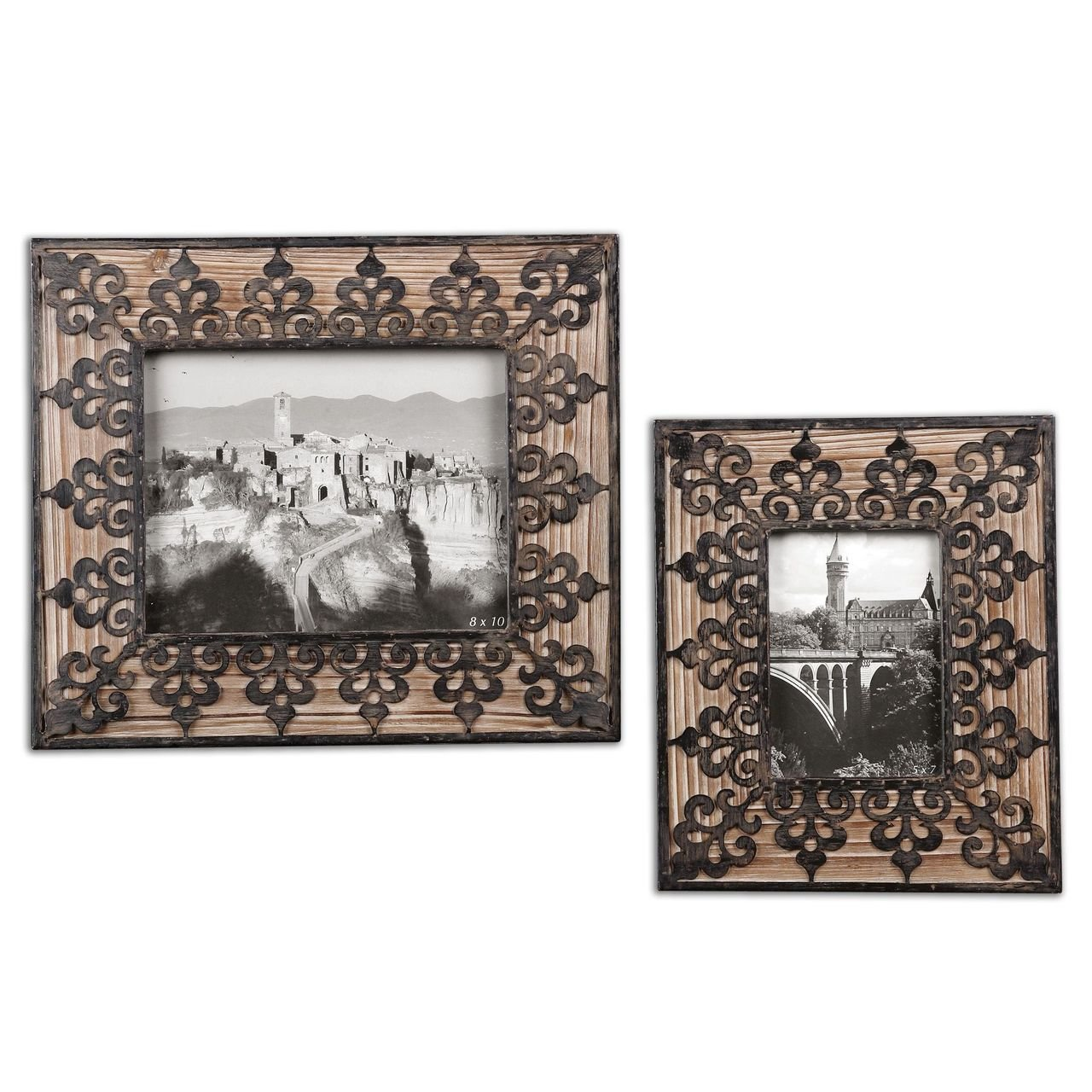 Amazon.de: Spanische Gothic-Bilderrahmen, rustikal, Holz, 3-teilig ...