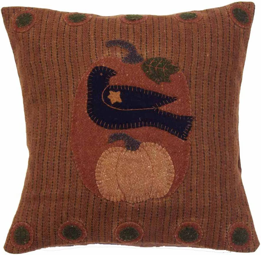 """Home Collection by Raghu Crowing Orange Pillow, 18"""" x 18"""""""