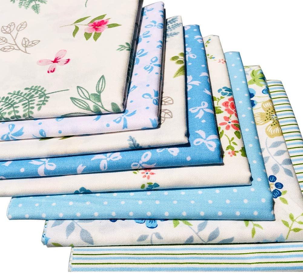 51cmx51/cm Naturel Fat Quarter Tissu en coton /épais Artisanat Tissu imprim/é haute densit/é Bundle carr/és Patchwork peluches DIY Couture Flic-flac 50,8/x 50,8/cm