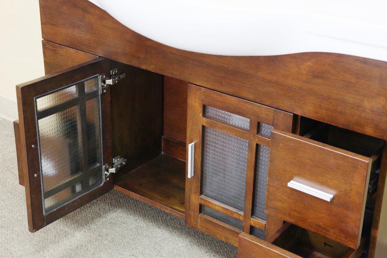 Bellaterra Home 203138 48-Inch Single Sink Vanity, Wood, Walnut