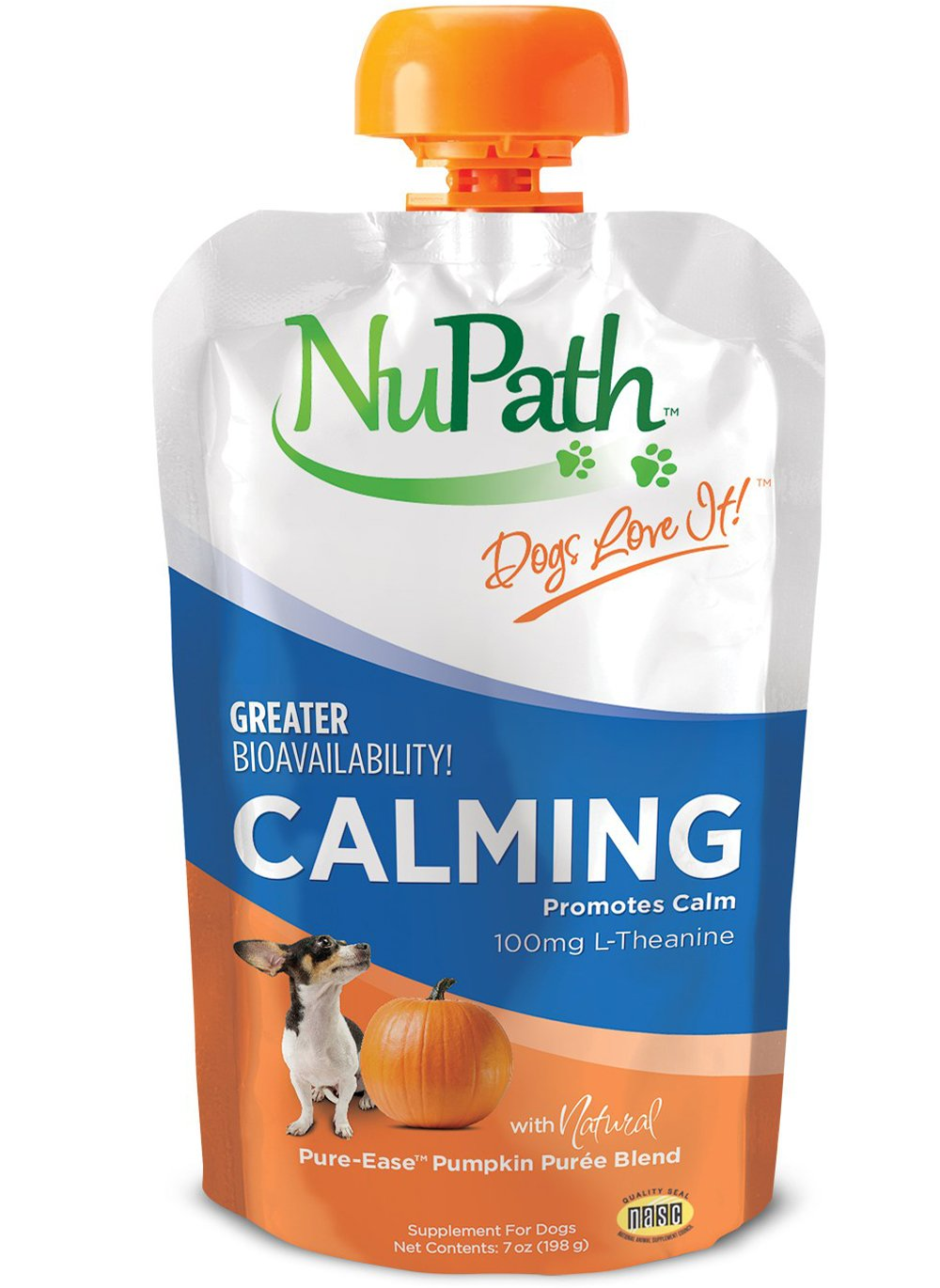 NuPath Pumpkin Supplement Squeeze Pouches For Dogs: Rich In Fiber - Comes In Easy-To-Squeeze Pouch