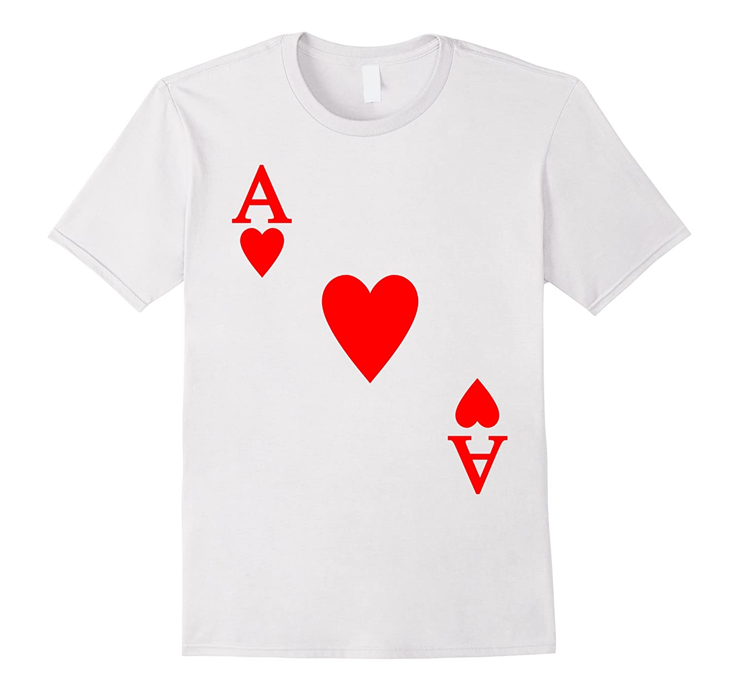 Ace of Heart Halloween Costume T-shirt-ANZ