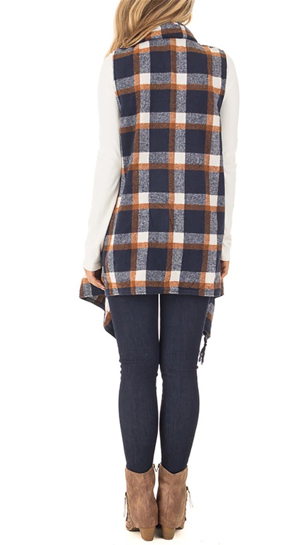 Amazon.com: yobecho Womens Sleeveless chaqueta de punto ...