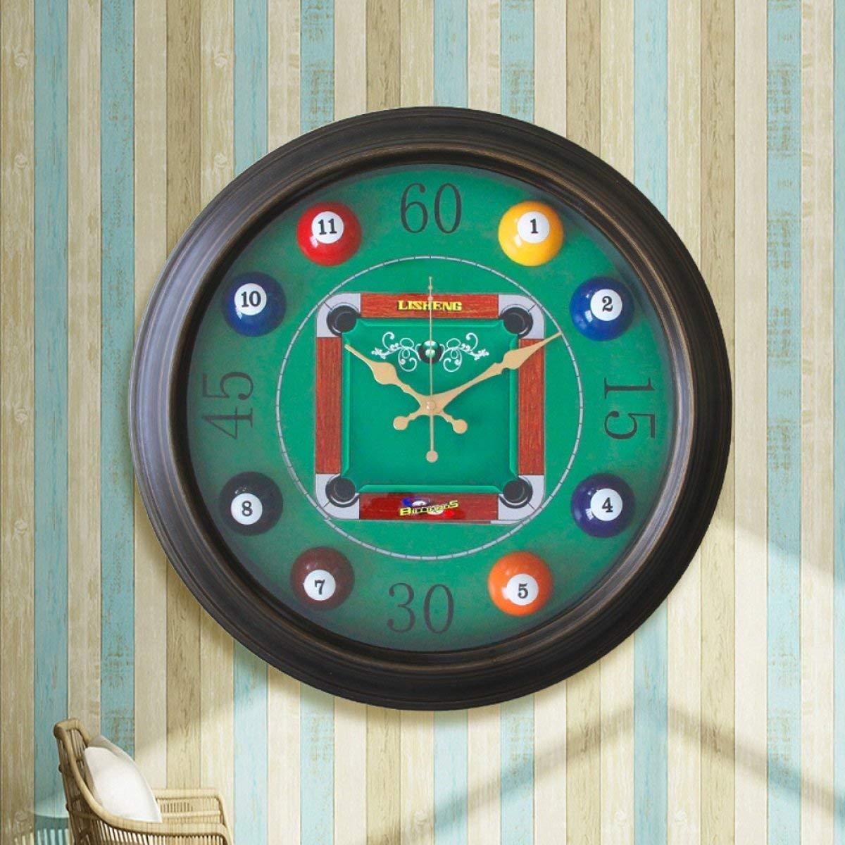 Hermosa y practica Reloj de pared Decoración creativa de fútbol Sala de estar minimalista moderna Mute Relojes para habitación de niños (47.5  47.5  7cm Embalaje de 1) (Color: C) ( Color : B )
