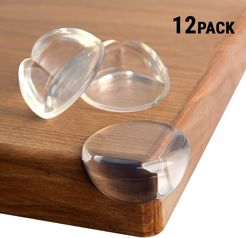 Angle Droit Transparente Protection Angle S/écurit/é B/éb/é Souple Anti-Chocs Protege de Coins avec R/ésistant Adh/ésifs pour Tables et Tout Meubles Pointus Lot de 12 Protection Coin de Table