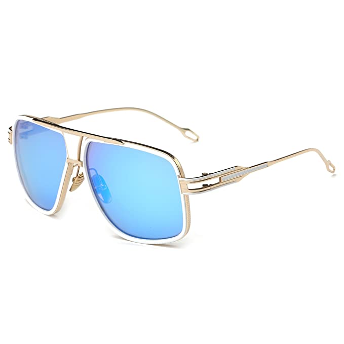 b0327925835 Gobiger Aviator Sunglasses for Men 100% UV Protection Goggle Alloy Frame  (Gold Frame