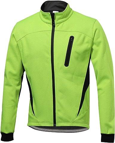 SUKUTU Men's Cycling Jacket Windproof Softshell Reflective Winter Thermal Fleece Bike Outerwear: Amazon.co.uk: Clothing