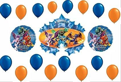 Amazon.com: Skylanders Feliz cumpleaños Kit de decoración ...