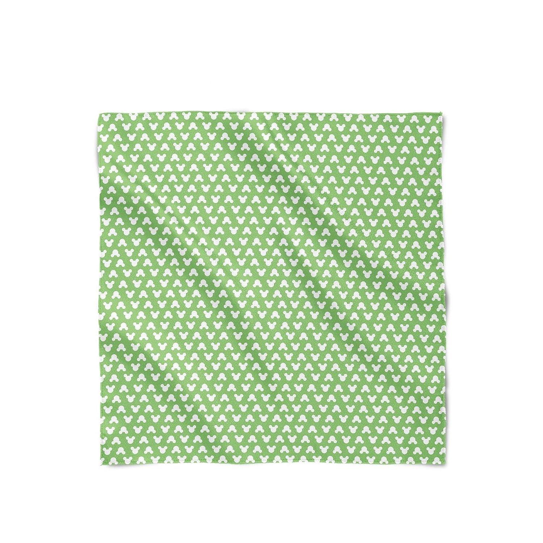 Mickey Polka Dots Green Satin Style Scarf
