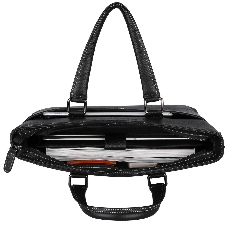 Banuce Genuine Leather Briefcase for Men Women Shoulder Messenger Bag Executive Bussiness Tote Laptop Bag by Banuce (Image #5)