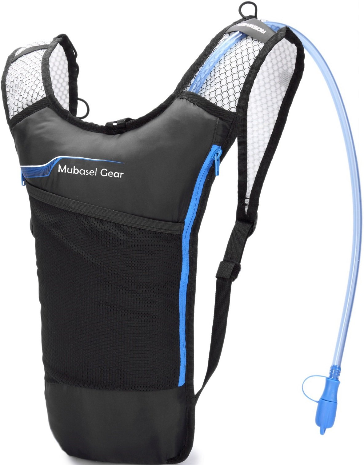 Hydration Backpack Pack with 2L BPA Free Bladder - Lightweight Pack Keeps Liquid Cool Up to 4 Hours - Great Storage Compartments - Outdoor Sports Gear for Running Hiking Cycling Skiing by Mubasel Gear