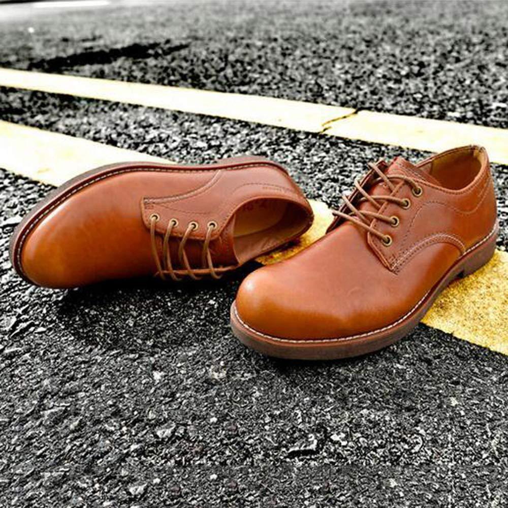GZZ Schuhe Herren Martin Stiefel Herbst Herbst Herbst Und Winter Outdoor Casual Tooling Lederschuhe Rutschfeste,Light-braun-41 bfd426