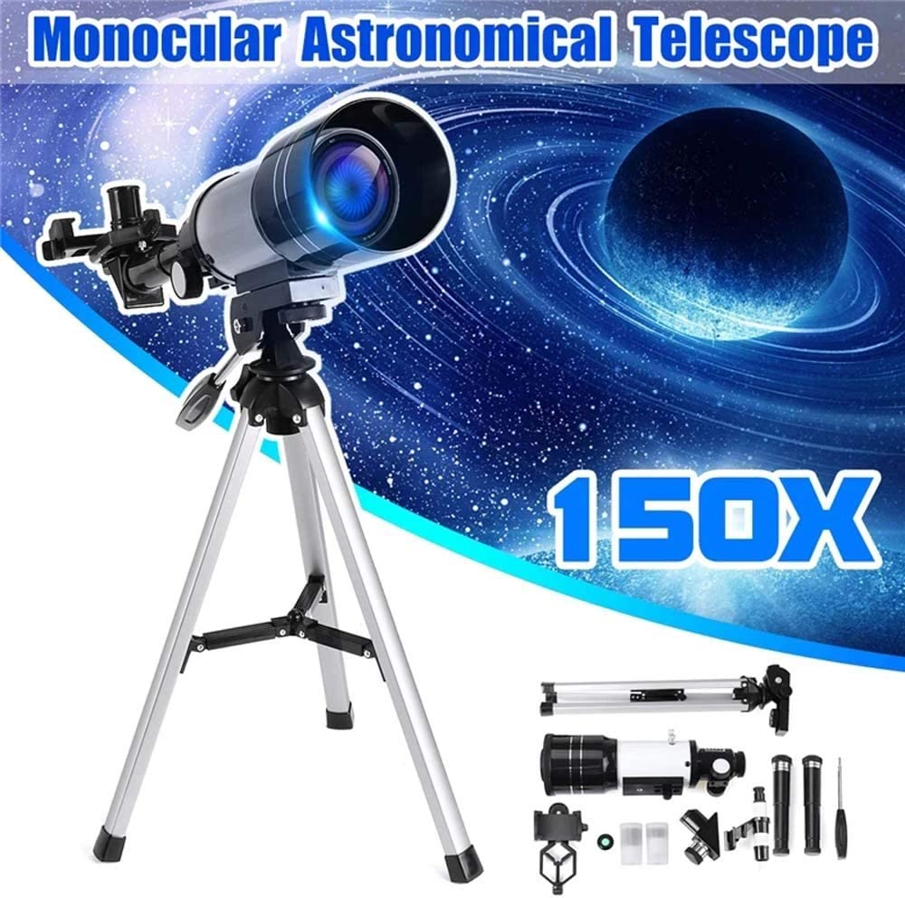 Color : White, Size : 48x35cm Ybriefbag Astronomical Telescope 150x70mm Refractor Astronomical Telescope with Tripod Phone Adapter