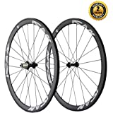 ICAN Carbon Road Bike 700C Wheelset Clincher 38mm Rim Sapim CX-Ray Spokes Only 1350g ( Best for:Climbing and Sprinting )