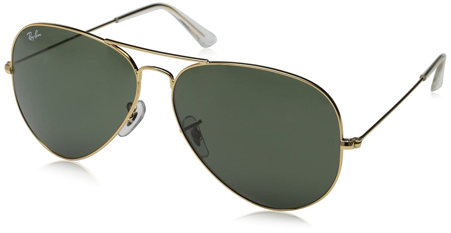 7cae5d6dab4 Ray Ban RB 3026 L2846 Arista Gold G-15 Lens 62mm Unisex Aviator Sunglasses   Amazon.co.uk  Clothing