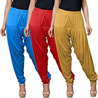 tirupur fashion biz Women's Patiala Pant for Viscose Multicolor