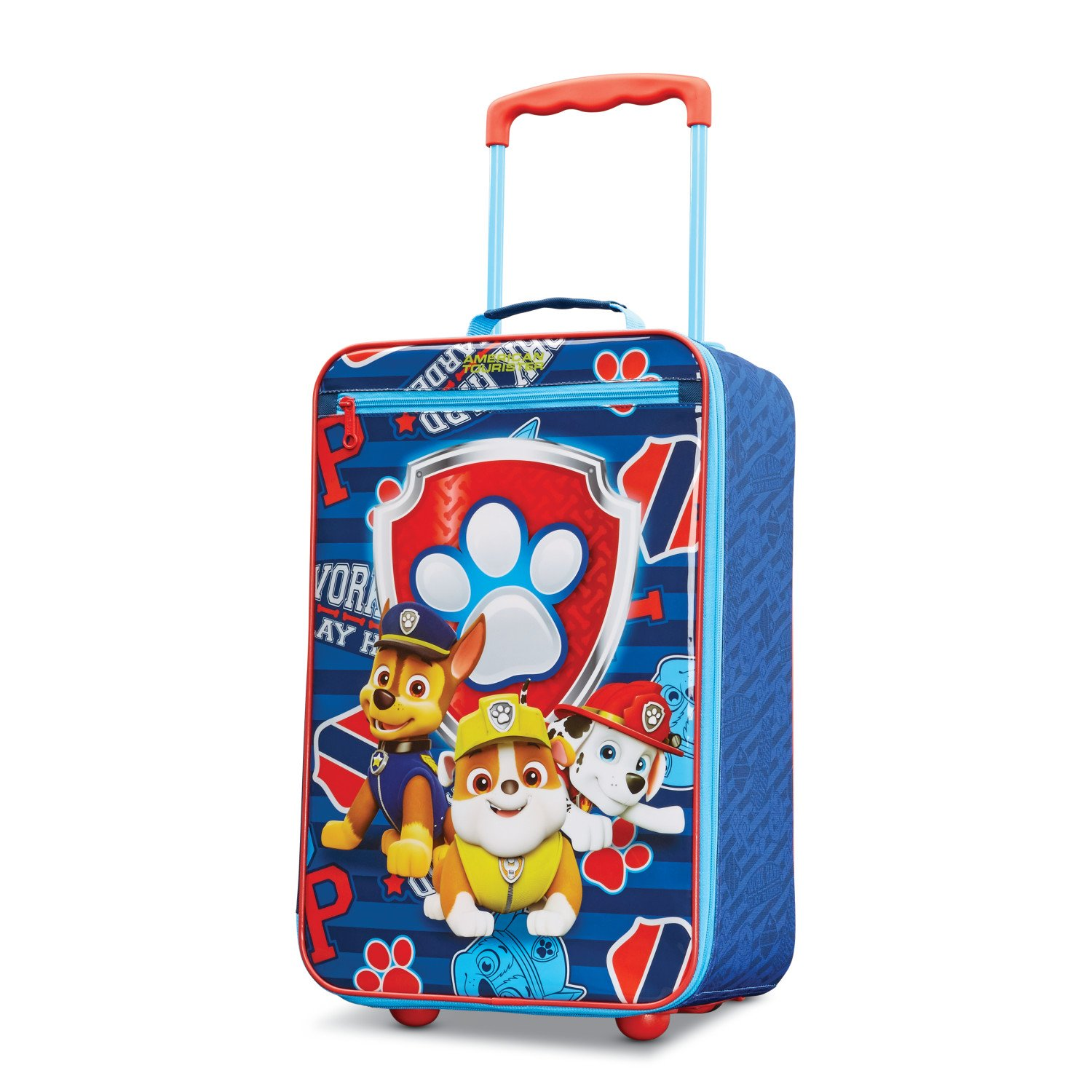 American Tourister Kids' Paw Patrol Softside Upright 18, Red/Blue American Tourister - Samsonite Corporation 110158-6604