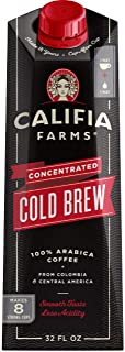product image for Califia Farms - Cold Brew Coffee Concentrate, Unsweetened, 32 oz, Makes 8 Servings of Hot or Iced Coffee, Clean Energy, Smooth & Balanced, Keto, Whole30, Shelf Stable