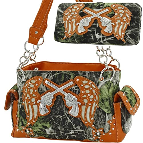 Amazon.com: Guns con alas Camo Rhinestone Monederos ...