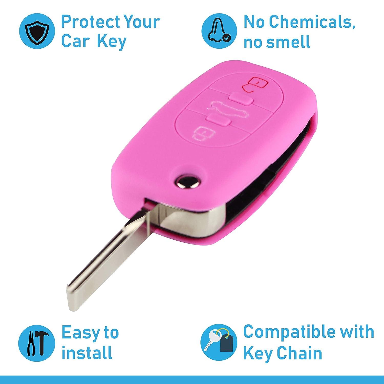 Rouge Couvercle pour Type de cl/é 3BKB Couvercle de Protection pour cl/és de Voiture ASARAH Couvercle de cl/é en Silicone Premium Compatible avec Audi