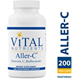 Vital Nutrients - Aller-C (Quercetin, Vitamin C, and Bioflavonoids) - Respiratory & Sinus Support - Gluten Free - 200 Vegetarian Capsules