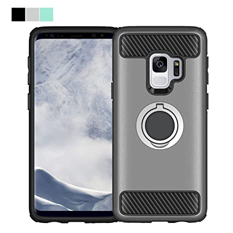 042c5fbd04429f WLDDWL Coque Samsung Galaxy S9, Étui Antichoc Support Protection TPU PC  Hybride Support Cover Housse