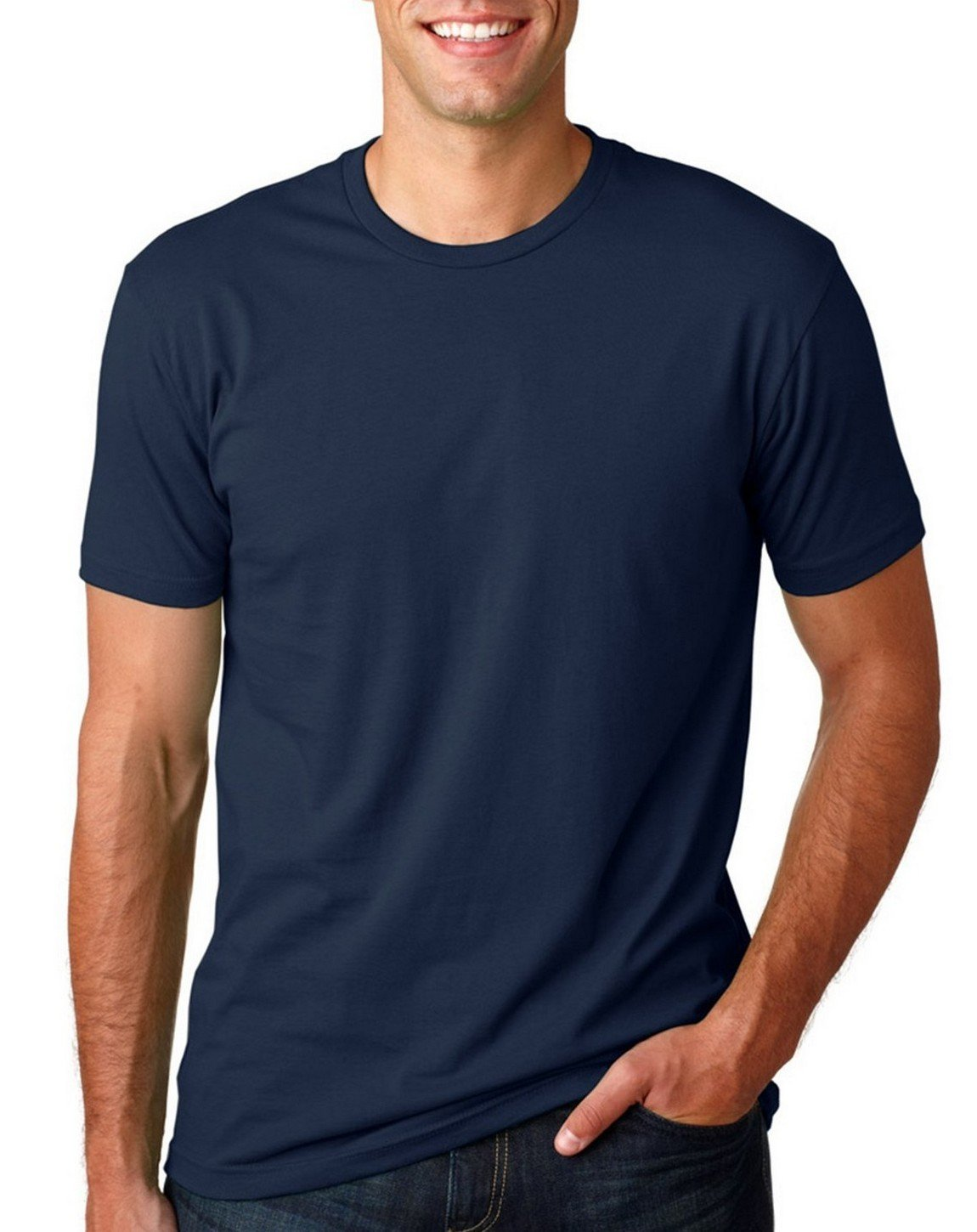 Next Level Mens Premium Fitted Crew Midnight Navy Large (Pack of 5)
