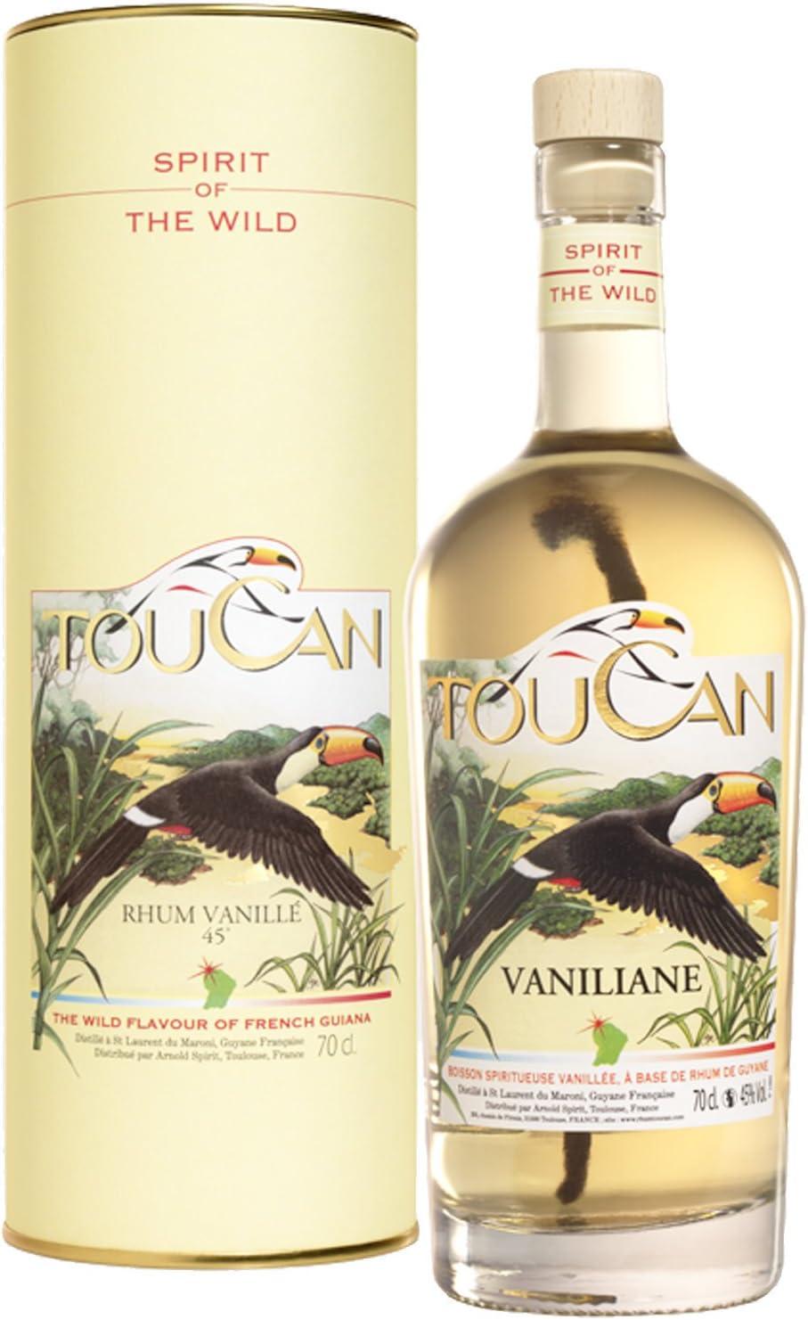 Ron Toucan Vaniliane 45 ° - 70 cl: Amazon.es: Alimentación y ...
