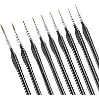 Dylviw 9 Pieces Fine Tip Detail Painting Brushes Miniature Paint Brushes Kit Mini Thin Tiny Paint Brush Set for Acrylic…