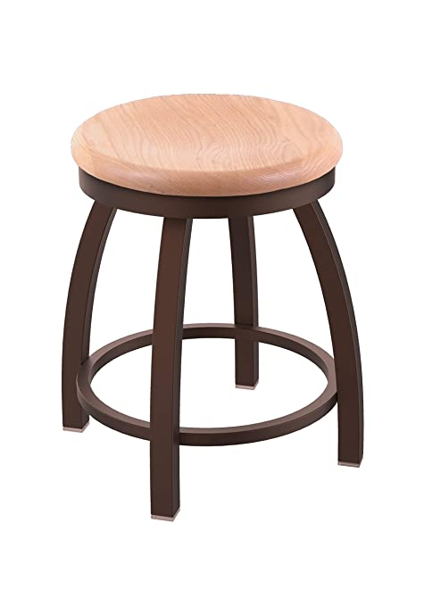 Remarkable Holland Bar Stool Co Misha Swivel Vanity Stool 18 Seat Height Natural Oak Pdpeps Interior Chair Design Pdpepsorg