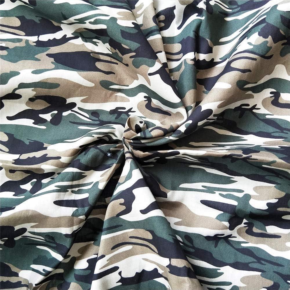 bande /élastique 10 m ZAIONE 5 pi/èces 50 cm x 50 cm Tissu popeline 100 /% coton imprim/é camouflage 50 bandes de pont de nez pour patchwork DIY Craft
