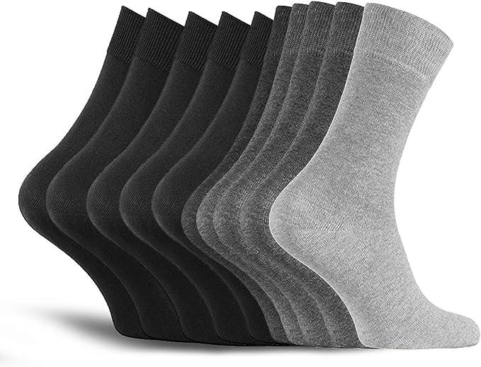 10 pares de calcetines de hombre calcetines de algodón de trabajo ...