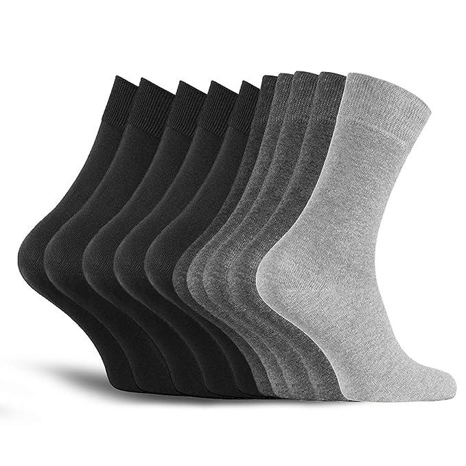 10 pares de calcetines de hombre calcetines de algodón de trabajo calcetines de ocio - cómodo sin costuras de presión - cómodo cómodo cinturón - ajuste ...
