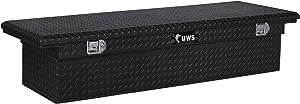 UWS EC10592 72-Inch Gloss Black Heavy-Wall Aluminum Truck Tool Box with Low Profile, RigidCore Lid