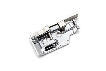 vhbw Accesorio Repuesto máquina de Coser, prensatela Patchwork con guía 1/4 Inch (6mm) para su máquina de Coser de AEG, Brother, Husqvarna.