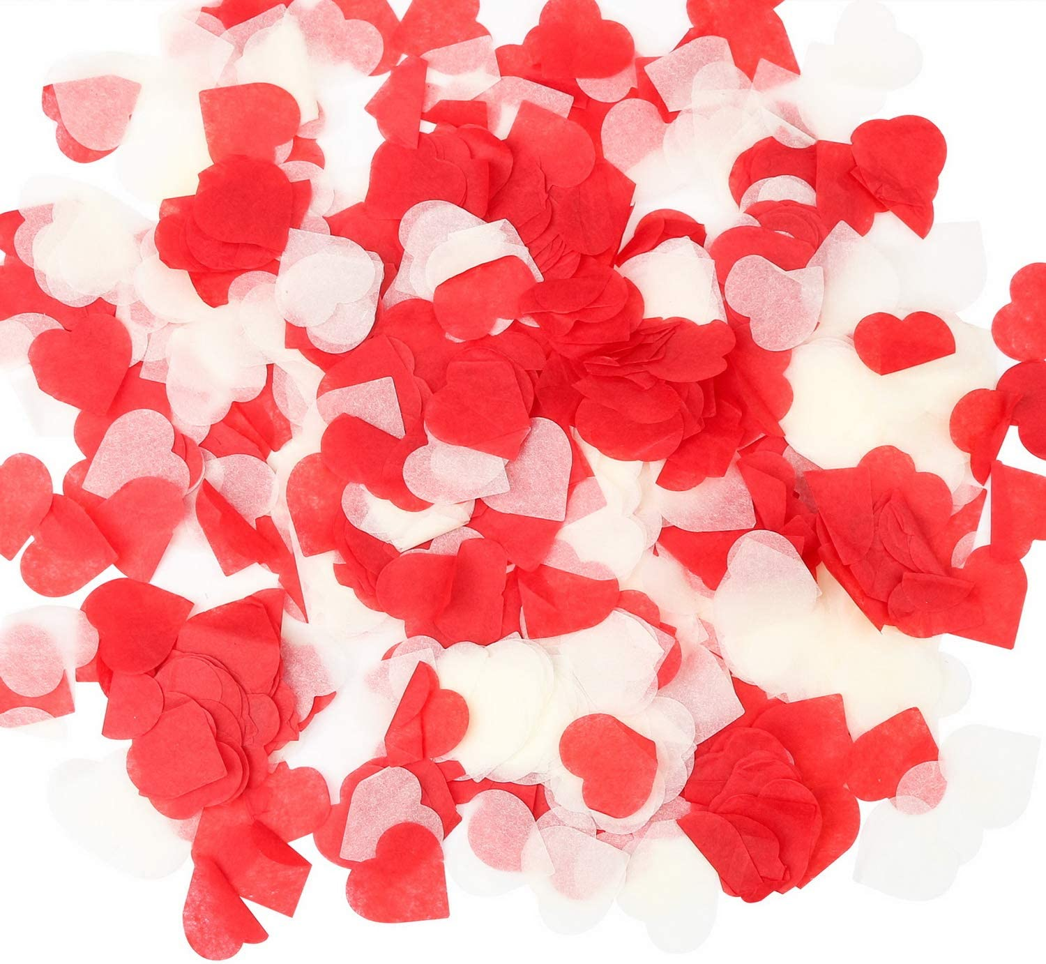Red and white confetti