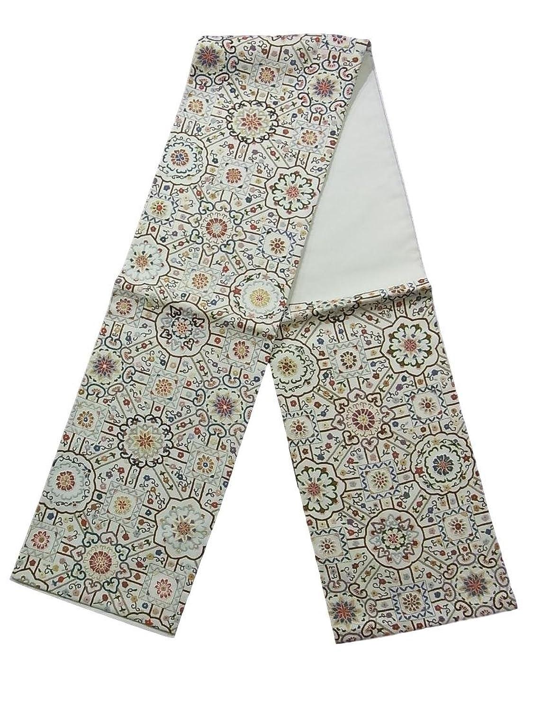 リサイクル 袋帯 相良刺繍 装飾文様 正絹 六通柄 B07FTMDTHY  -