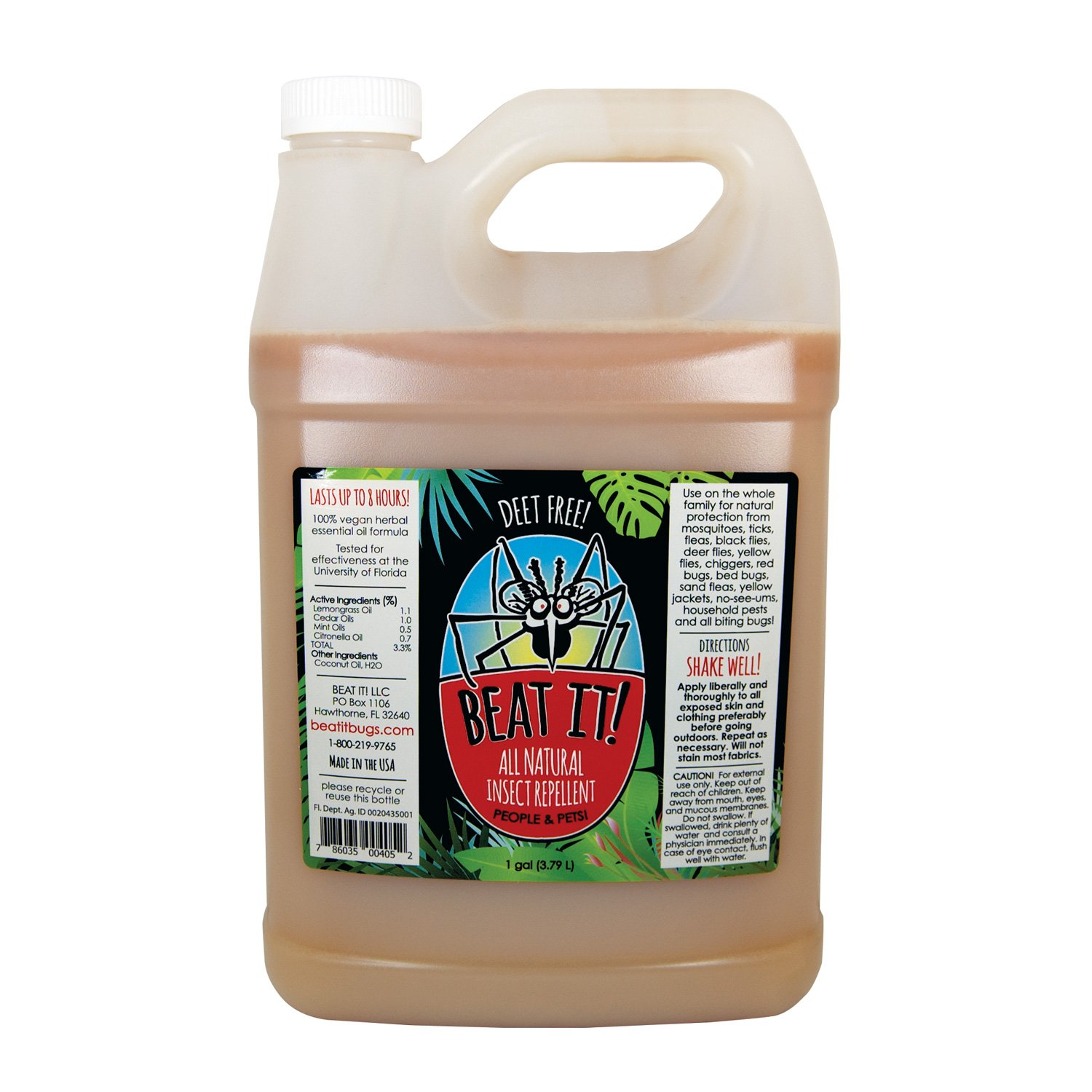 Beat IT! All Natural Deet-Free Insect Repellent (Bulk 1 Gallon)