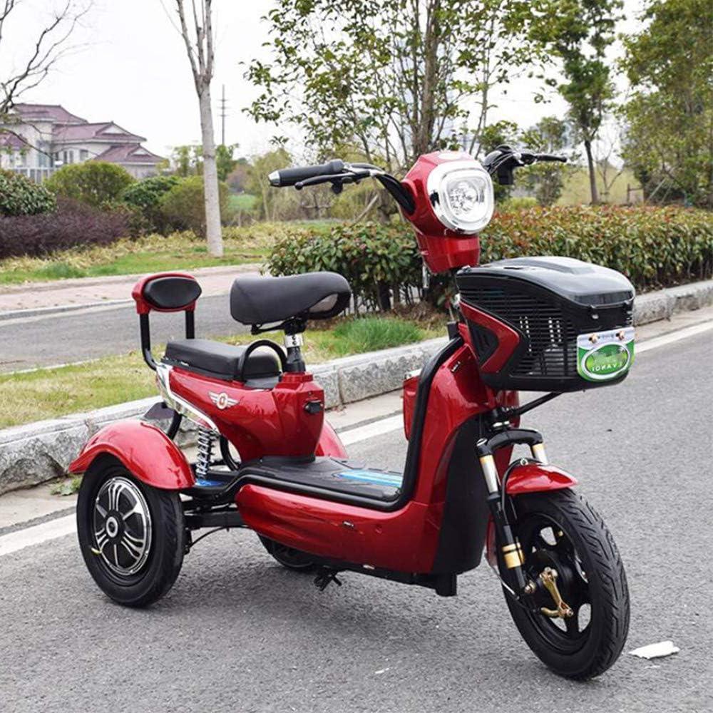 LLPDD Scooter, Mini eléctrico Triciclo portátil al Aire Libre para Adultos de Edad Avanzada Viaje discapacitados Vespa 48V20A E-Scooter para Adultos Y Viejo