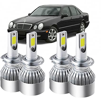 Amazon Com 4pcs H7 Led Headlight Bulbs For Mercedes Benz S Class