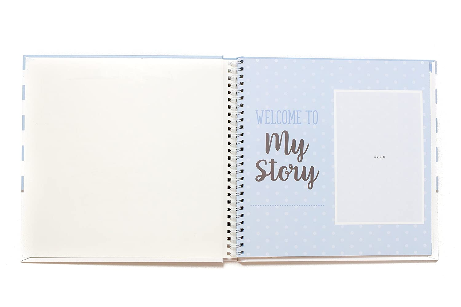 First Year Baby Memory Book Baby Journal 3 Color Styles Available . Perfect for Boys or Girls Baby Shower Gift. First 5 Years Scrapbook, Keepsake Photo Journal. Unisex, Blue