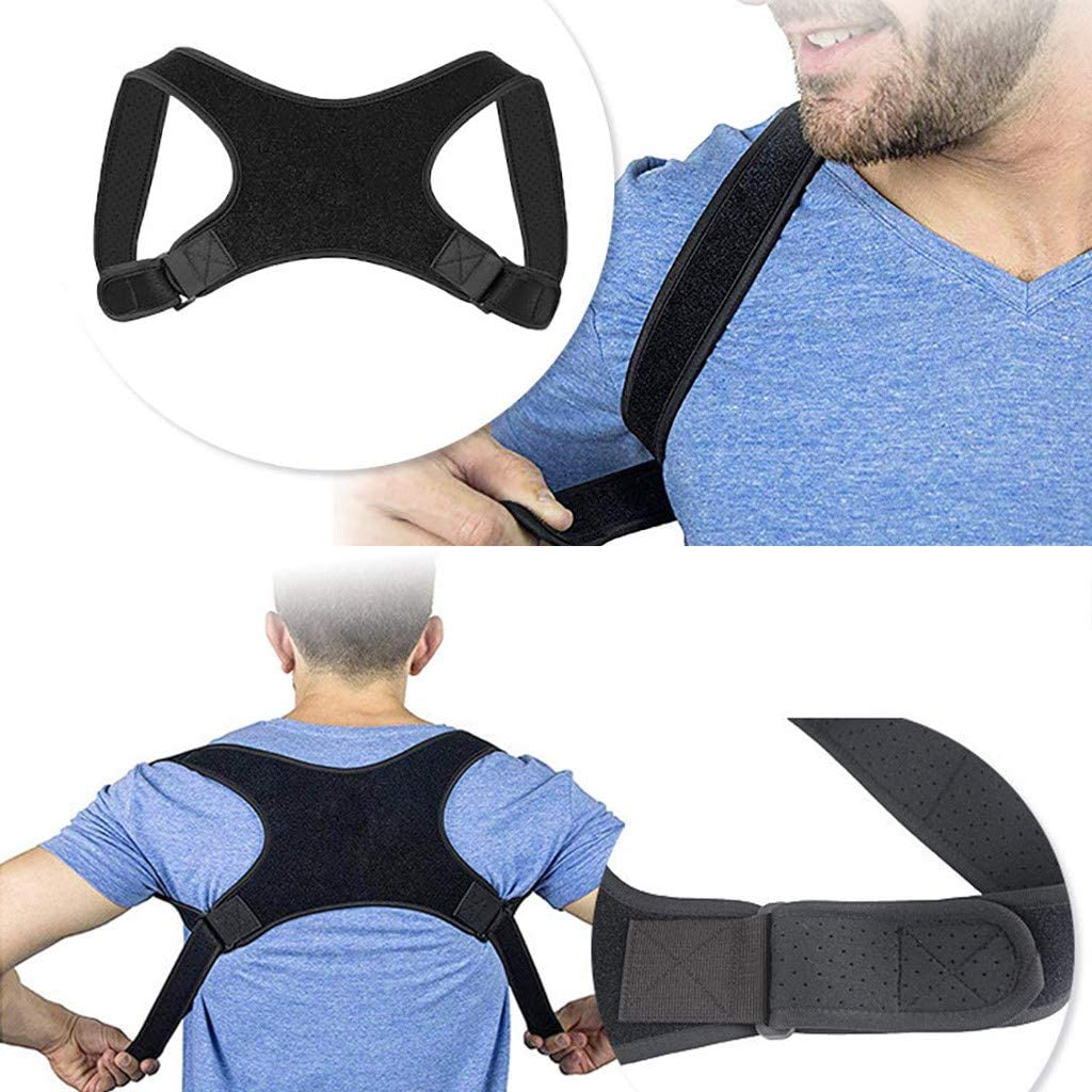 YunZyun Back Straightener for Student and Adult,Back Posture Correct Humpback Muscle Spasm Posture Clavicle Corrector Brace Strap,Smooth Your Waist Black-1 Shape Your Body
