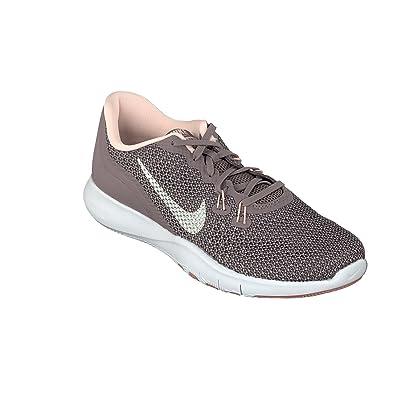 5c78d7be4f Nike Damen W Flex Trainer 7 Bionic Sneakers, Mehrfarbig (Taupe  Grey/Metallic Silver
