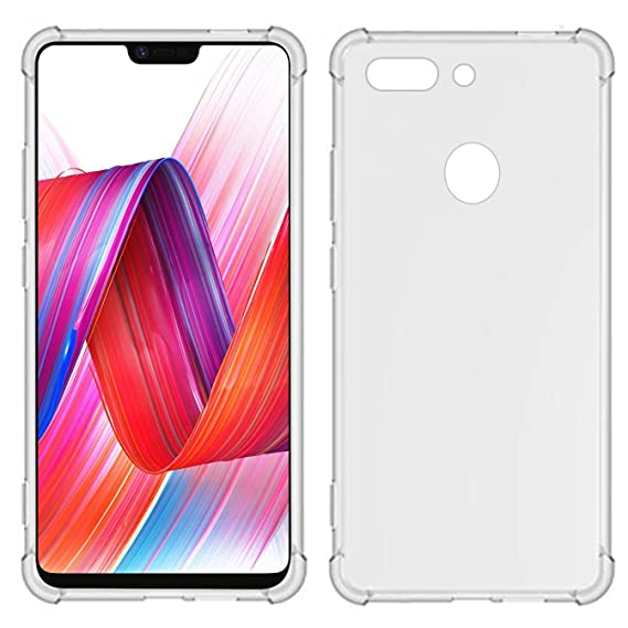 free shipping eb9b6 cfe82 TIYA Case Clear for Oppo R15 Pro TPU Four Corners Cover Transparent Soft