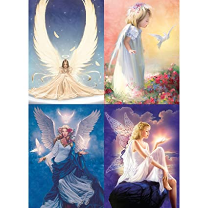 amazon com tree free greetings angel all occasion card assortment