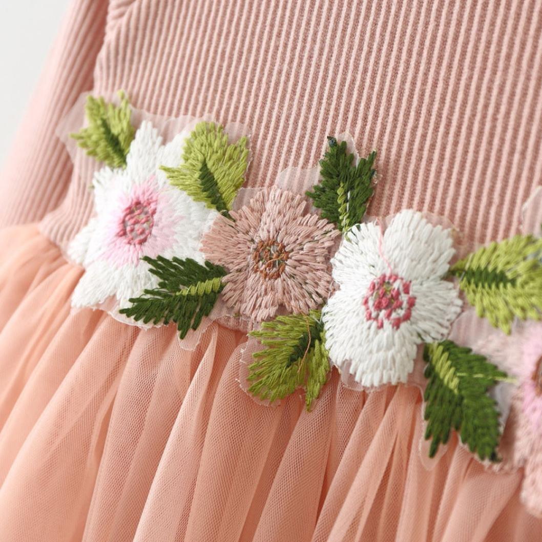 846eba674 Amlaiworld Otoño invierno lindo bebé niña tutú floral de manga larga vestido  de princesa 0-24 Mes ...