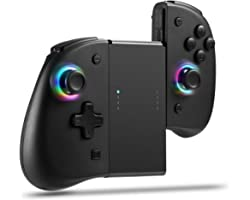 Joypad for Nintendo Switch, Wireless Joy Con Replacement Switch Controller 8 Colors Adjustable LED Joypad Controller with Bac
